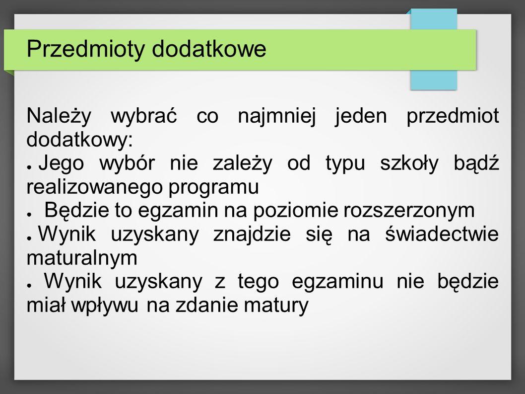 Forma i struktura egzaminu maturalnego z języka polskiego od roku 2015