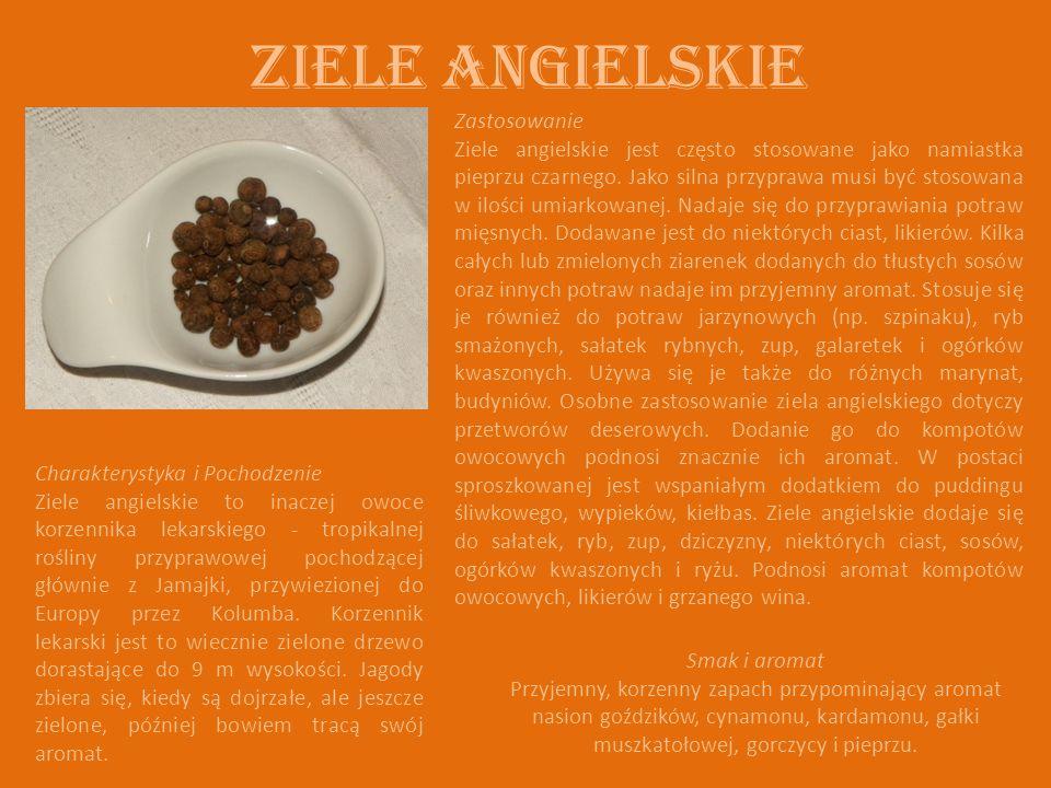 ZIELE ANGIELSKIE Charakterystyka i Pochodzenie Ziele angielskie to inaczej owoce korzennika lekarskiego - tropikalnej rośliny przyprawowej pochodzącej