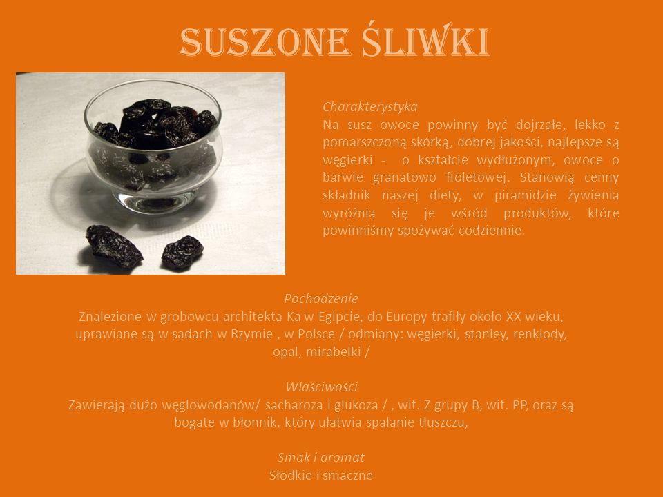 Suszone Ś liwki Charakterystyka Na susz owoce powinny być dojrzałe, lekko z pomarszczoną skórką, dobrej jakości, najlepsze są węgierki - o kształcie wydłużonym, owoce o barwie granatowo fioletowej.