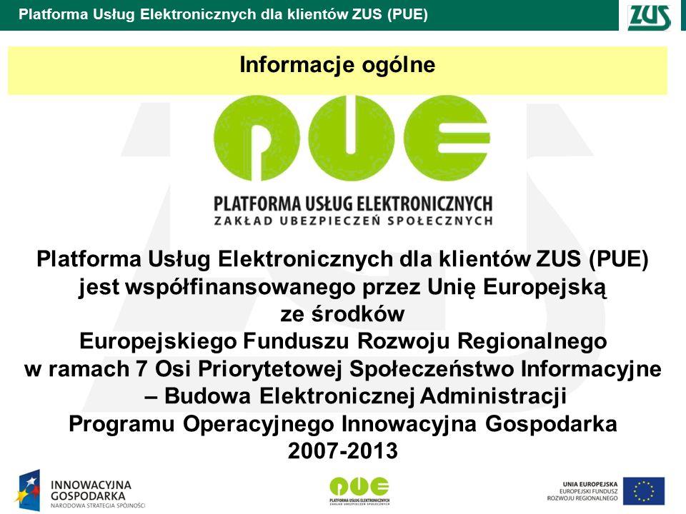 Platforma Usług Elektronicznych dla klientów ZUS (PUE) System Zarządzania Usługami Platformy (SZUP) jest systemem dostarczającym usługi infrastrukturalne platformy PUE.
