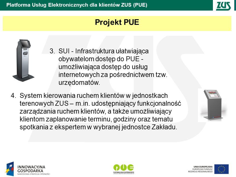 Platforma Usług Elektronicznych dla klientów ZUS (PUE) Nowy Portal Informacyjny ZUS (NPI) D edykowany do udostępniania użytkownikom usług świadczonych przez ZUS drogą elektroniczną w trybie 24/7/365.