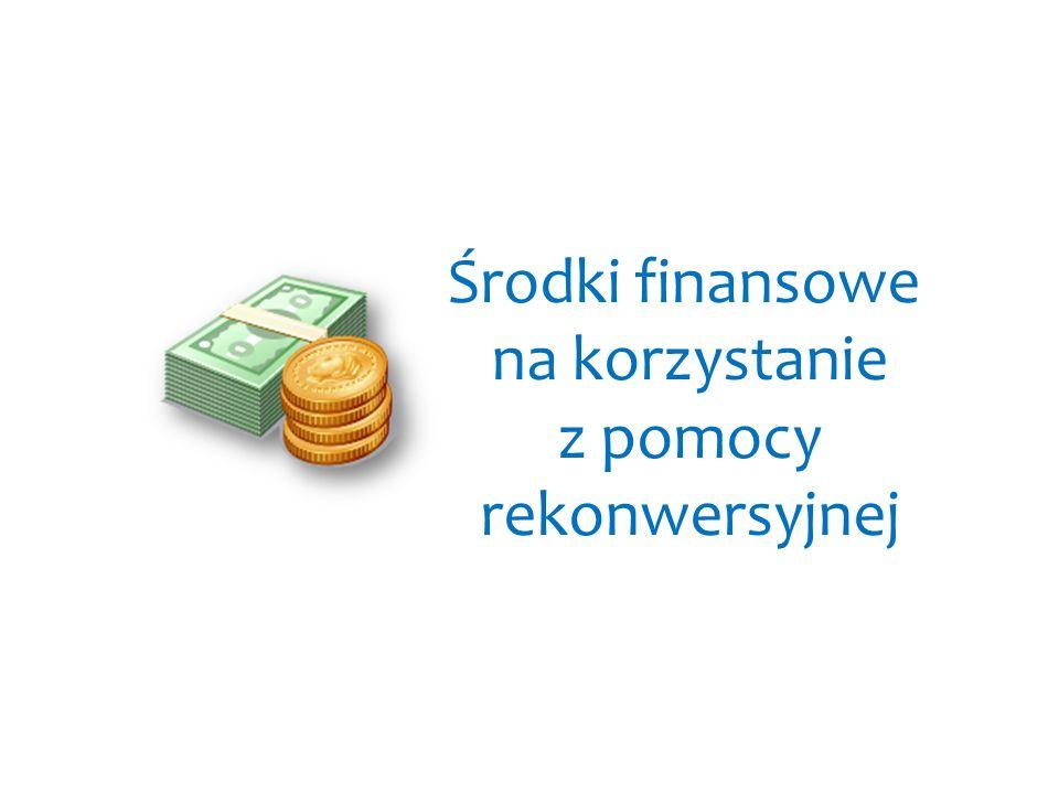Środki finansowe na korzystanie z pomocy rekonwersyjnej
