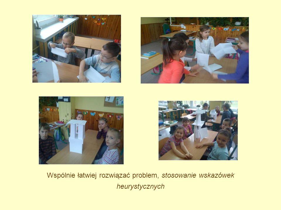Wspólnie łatwiej rozwiązać problem, stosowanie wskazówek heurystycznych