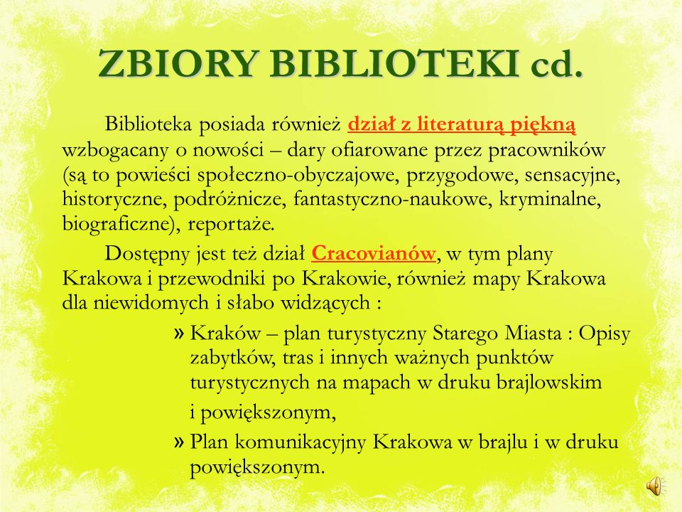 ZBIORY BIBLIOTEKI Biblioteka gromadzi głównie książki i podręczniki medyczne zgodnie z kierunkiem nauczania Szkoły, a więc podręczniki do masażu, anat