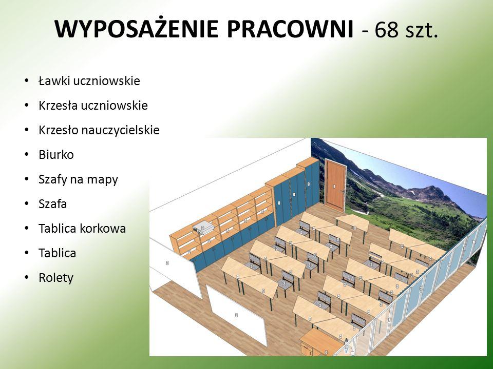 WYPOSAŻENIE PRACOWNI - 68 szt.