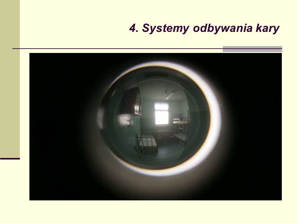4. Systemy odbywania kary