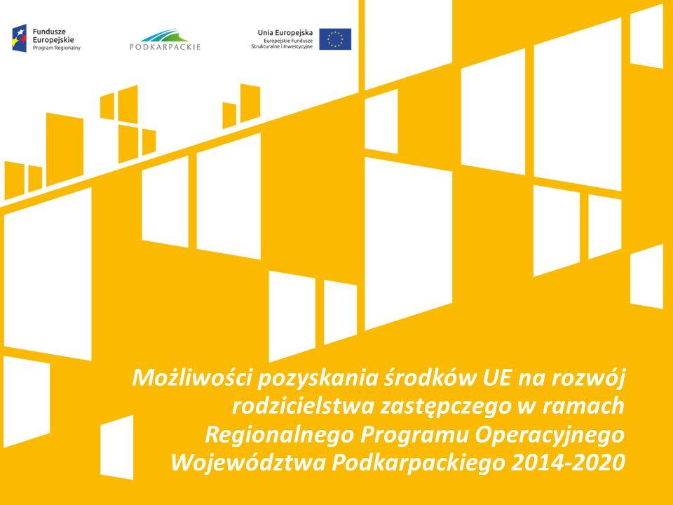 Możliwości pozyskania środków UE na rozwój rodzicielstwa zastępczego w ramach Regionalnego Programu Operacyjnego Województwa Podkarpackiego 2014-2020