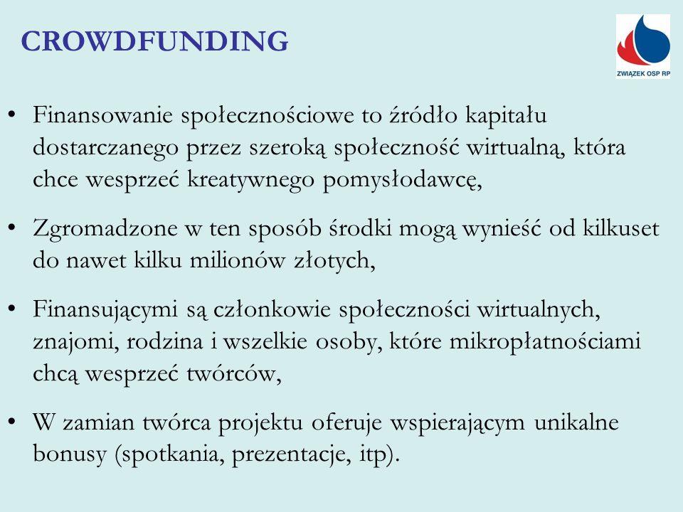Finansowanie społecznościowe to źródło kapitału dostarczanego przez szeroką społeczność wirtualną, która chce wesprzeć kreatywnego pomysłodawcę, Zgrom