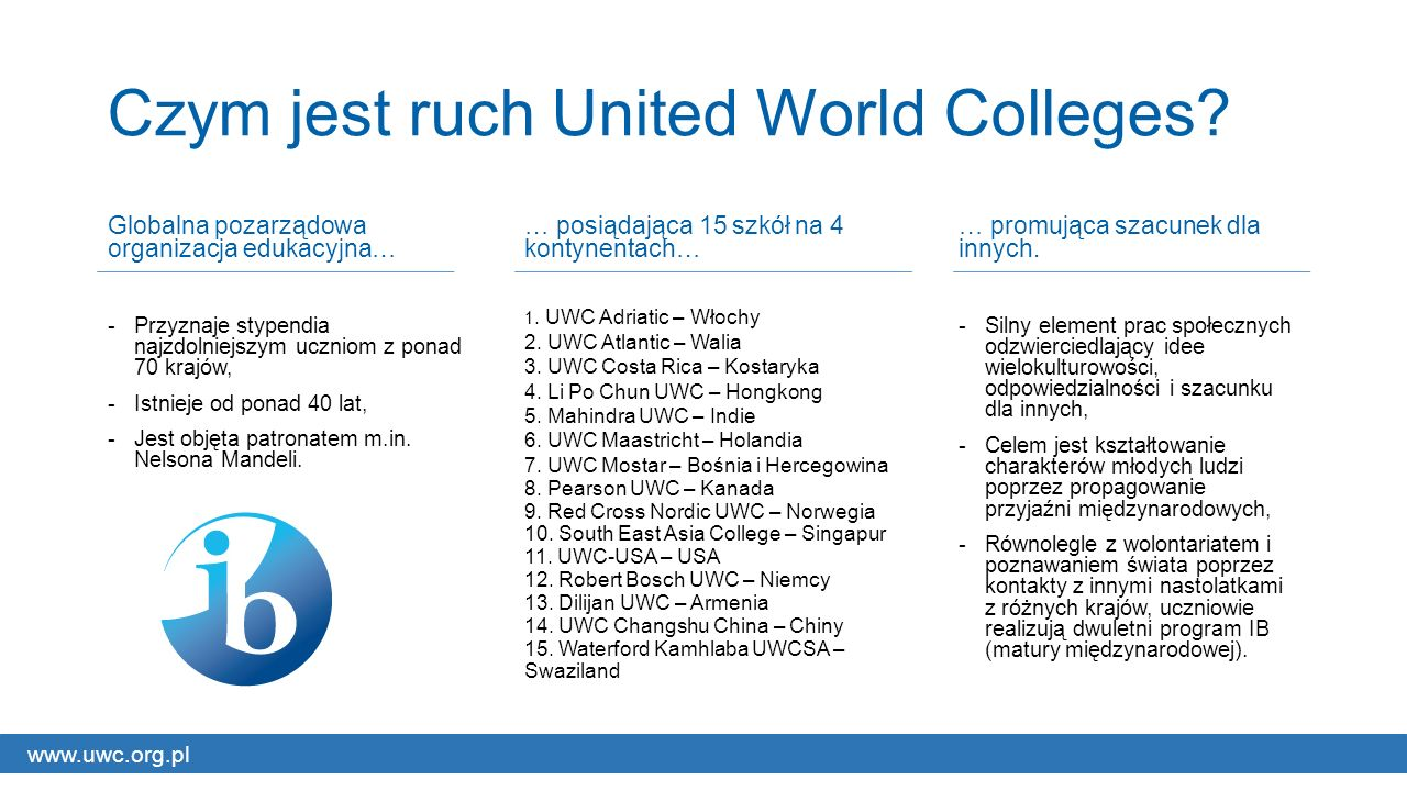 Czym jest ruch United World Colleges.