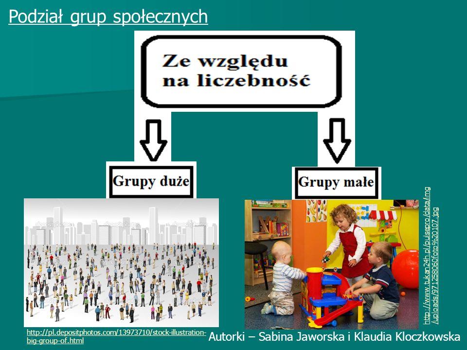 Podział grup społecznych Autorki – Sabina Jaworska i Klaudia Kloczkowska http://www.tukan24h.pl/pulsepro/data/img /uploads/971258060foto%20107.jpg http://pl.depositphotos.com/13973710/stock-illustration- big-group-of.html