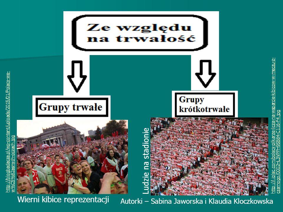 http://blogbadacza.pl/wp-content/uploads/2015/01/Polacy-we- w%C5%82asnych-oczach.jpg http://i.iplsc.com/polscy-pilkarze-licza-na-wsparcie-kibicow-w-meczu-z- czarnogo/0002HL3VPPH9SB84-C116-F4.jpg Autorki – Sabina Jaworska i Klaudia Kloczkowska Wierni kibice reprezentacji Ludzie na stadionie