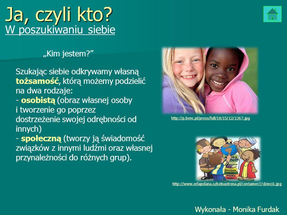 Ja, czyli kto? W poszukiwaniu siebie Wykonała - Monika Furdak http://p.benc.pl/press/full/18/15/12/1367.jpg http://www.orlapolana.szkolnastrona.pl/con