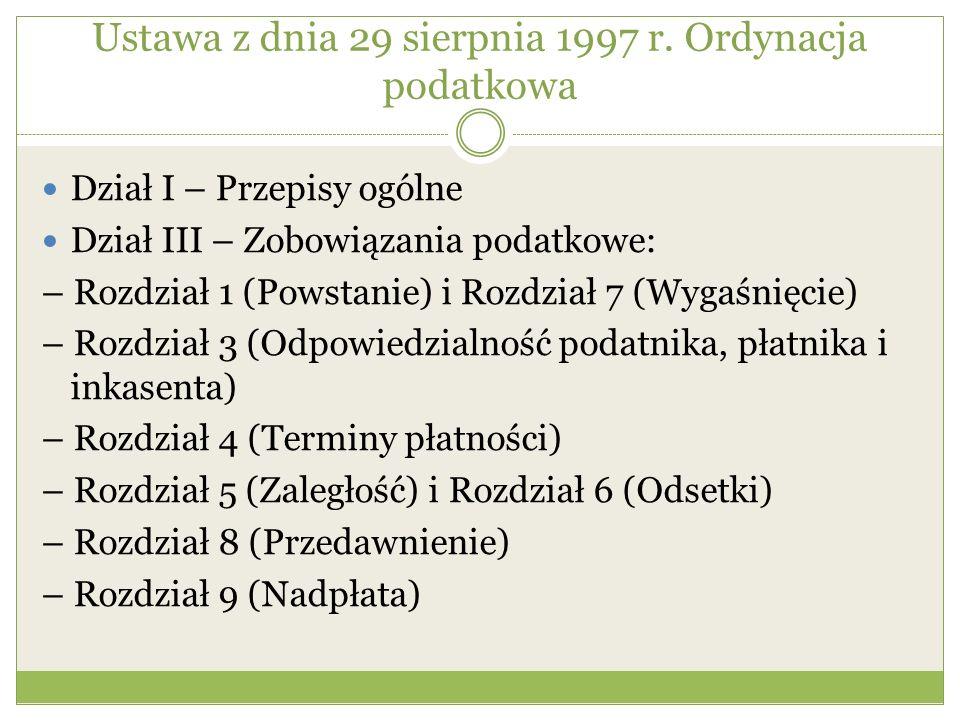 Sposoby zabezpieczenia Osoba zobowiązana może wybrać spośród następujących form zabezpieczenia: 1) gwarancji bankowej lub ubezpieczeniowej; 2) poręczenia banku; 3) weksla z poręczeniem wekslowym banku; 4) czeku potwierdzonego przez krajowy bank wystawcy czeku; 5) zastawu rejestrowego na prawach z papierów wartościowych emitowanych przez Skarb Państwa lub Narodowy Bank Polski - według ich wartości nominalnej; 6) uznania kwoty na rachunku depozytowym organu podatkowego; 7) pisemnego, nieodwołalnego upoważnienia organu podatkowego, potwierdzonego przez bank lub spółdzielczą kasę oszczędnościowo- kredytową, do wyłącznego dysponowania środkami pieniężnymi zgromadzonymi na rachunku lokaty terminowej.