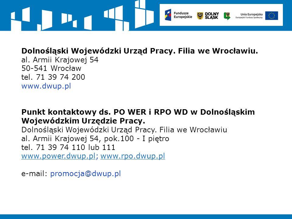 Dolnośląski Wojewódzki Urząd Pracy.Filia we Wrocławiu.