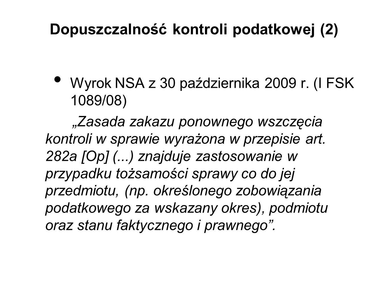 Poinformowanie o zamiarze wszczęcia (4) Art.282c Op § 1.