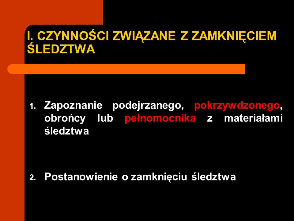 1.PRZESŁANKI UMORZENIA ŚLEDZTWA UMORZENIE RESTYTUCYJNE (art.