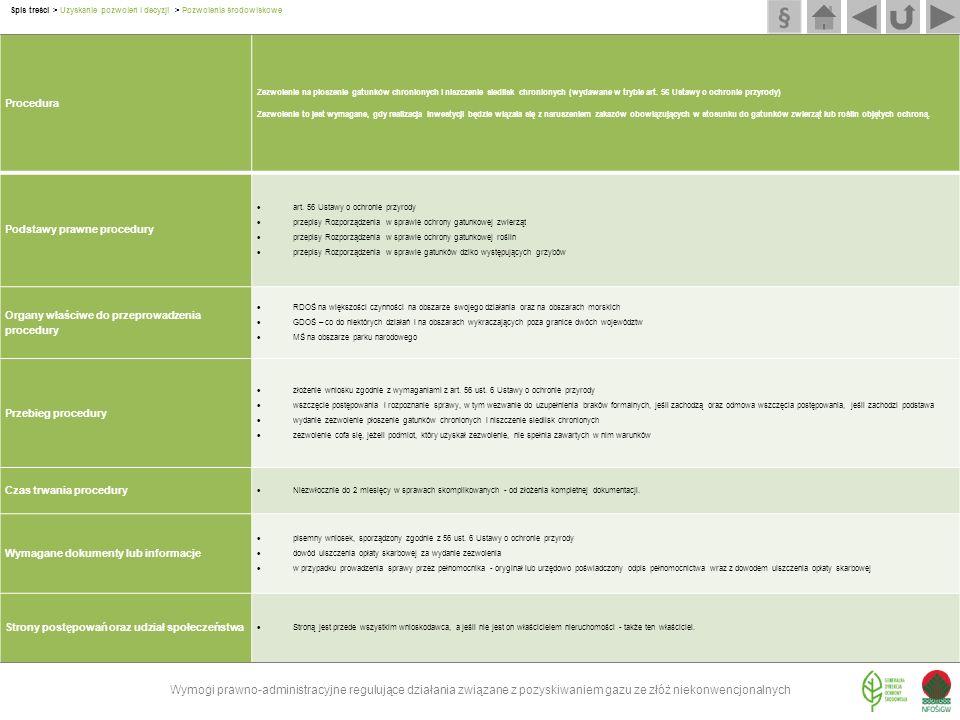 Procedura Zezwolenie na płoszenie gatunków chronionych i niszczenie siedlisk chronionych (wydawane w trybie art. 56 Ustawy o ochronie przyrody) Zezwol