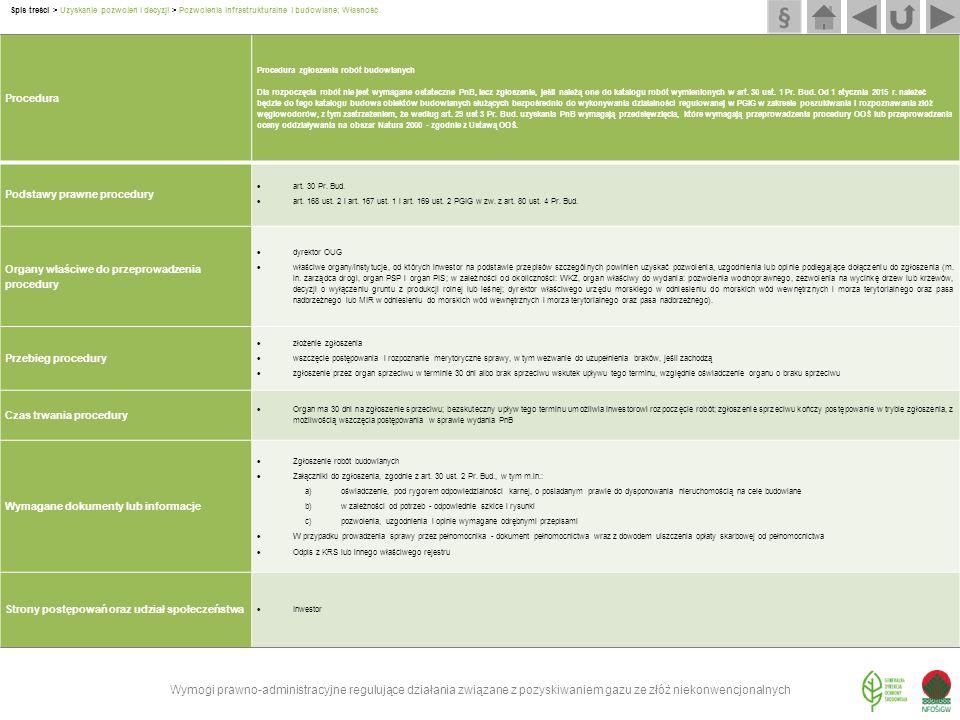 Procedura Procedura zgłoszenia robót budowlanych Dla rozpoczęcia robót nie jest wymagane ostateczne PnB, lecz zgłoszenie, jeśli należą one do katalogu