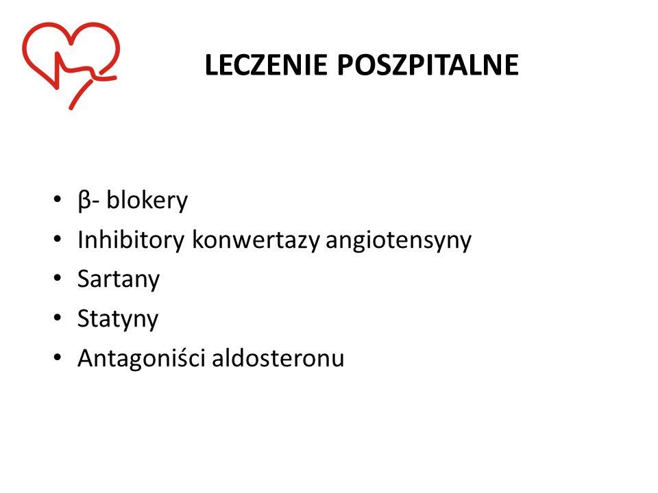 LECZENIE POSZPITALNE β- blokery Inhibitory konwertazy angiotensyny Sartany Statyny Antagoniści aldosteronu