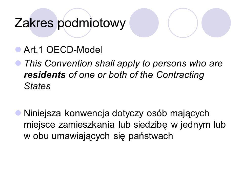 Struktura UM-OECD Rozdział II – definicje