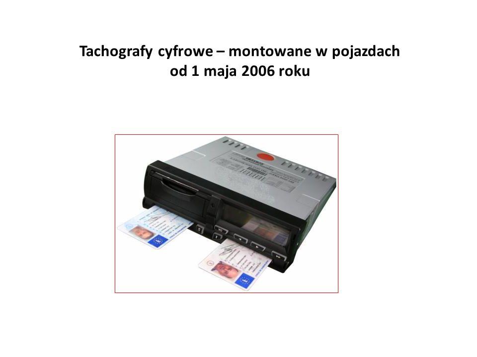 Tachografy cyfrowe – montowane w pojazdach od 1 maja 2006 roku