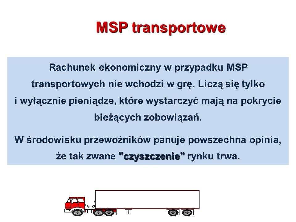 Rachunek ekonomiczny w przypadku MSP transportowych nie wchodzi w grę.