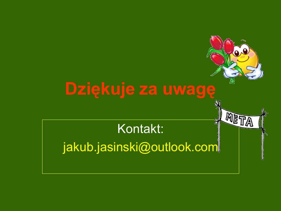 Dziękuje za uwagę Kontakt: jakub.jasinski@outlook.com