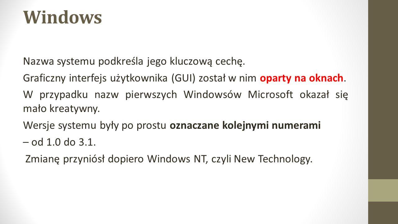 Windows Nazwa systemu podkreśla jego kluczową cechę.
