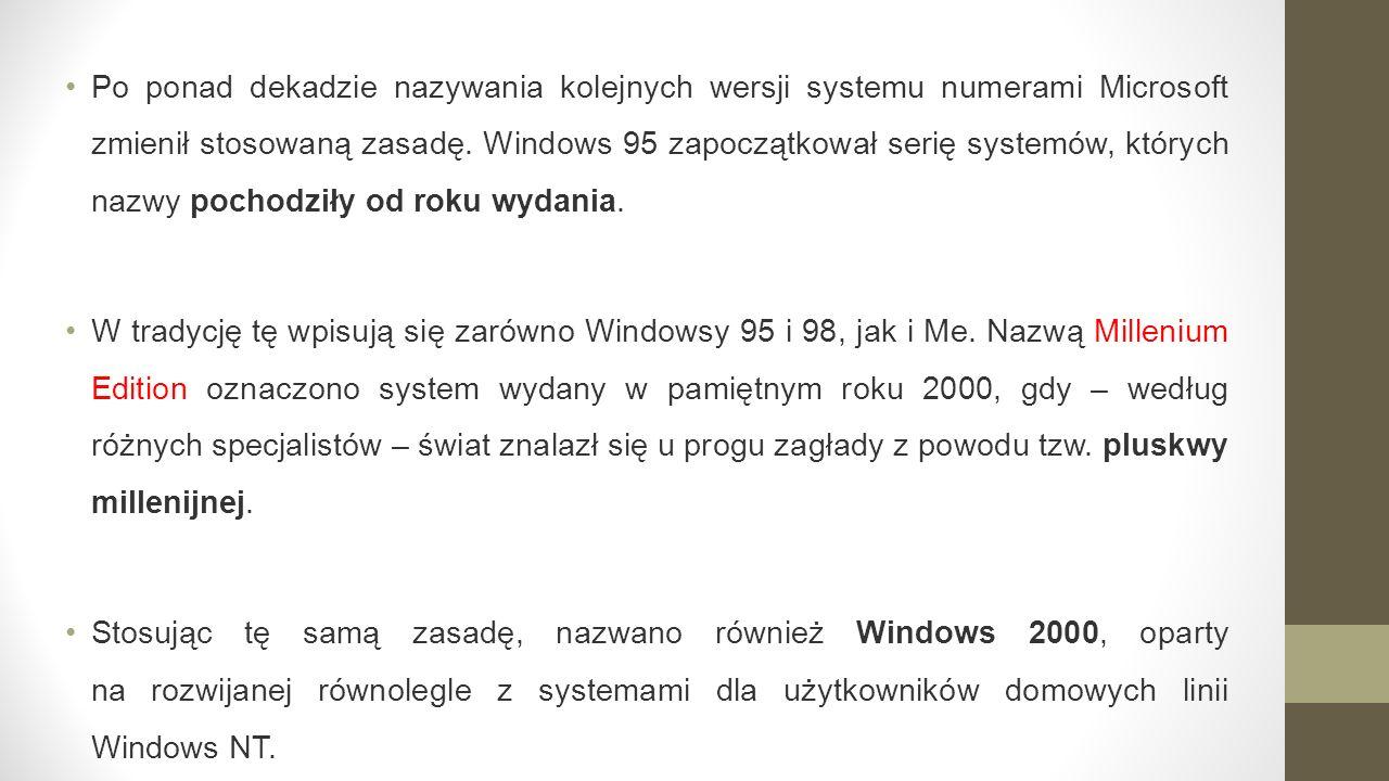 Po ponad dekadzie nazywania kolejnych wersji systemu numerami Microsoft zmienił stosowaną zasadę.