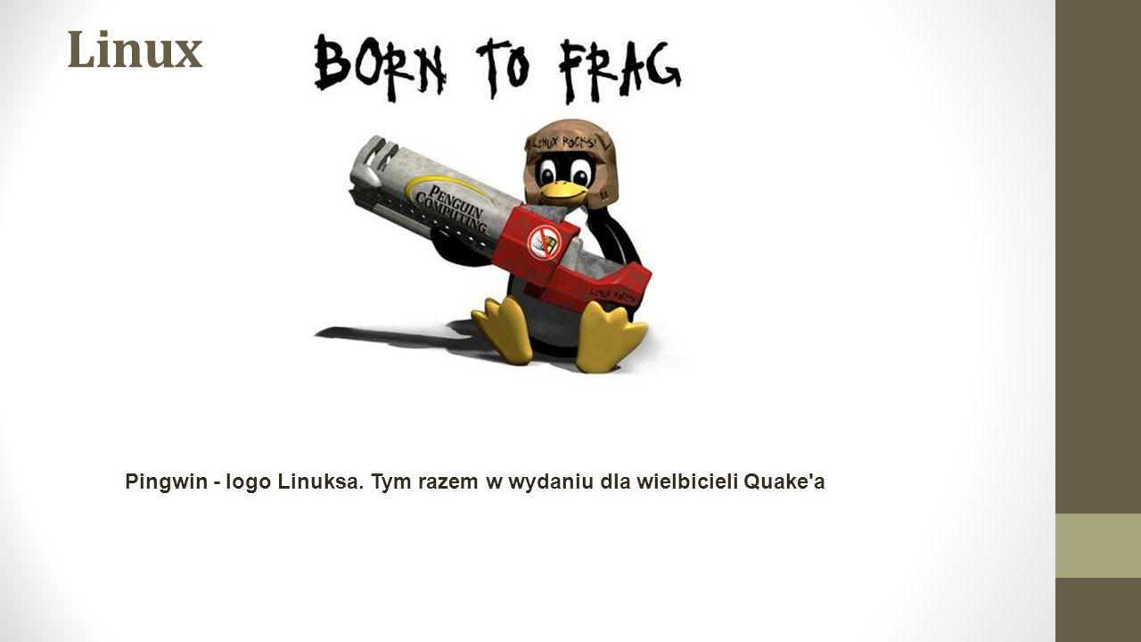 Linux Pingwin - logo Linuksa. Tym razem w wydaniu dla wielbicieli Quake a