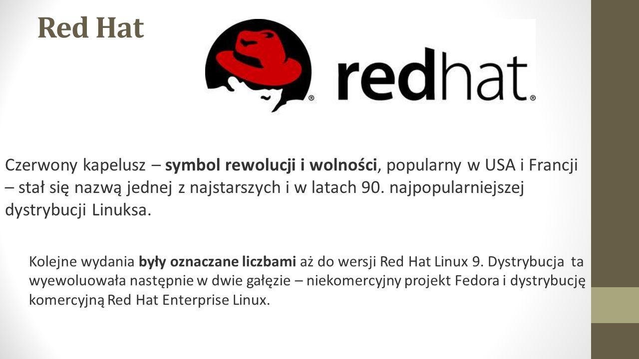 Red Hat Czerwony kapelusz – symbol rewolucji i wolności, popularny w USA i Francji – stał się nazwą jednej z najstarszych i w latach 90.