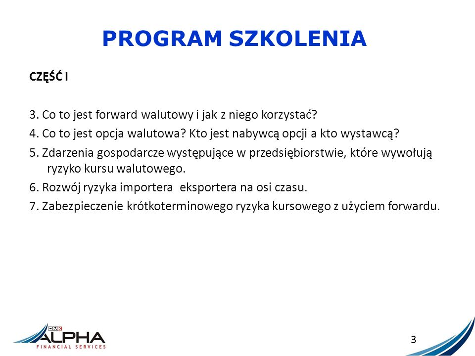 PROGRAM SZKOLENIA CZĘŚĆ II 1.