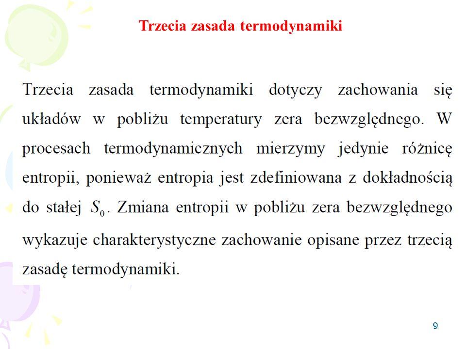 9 Trzecia zasada termodynamiki
