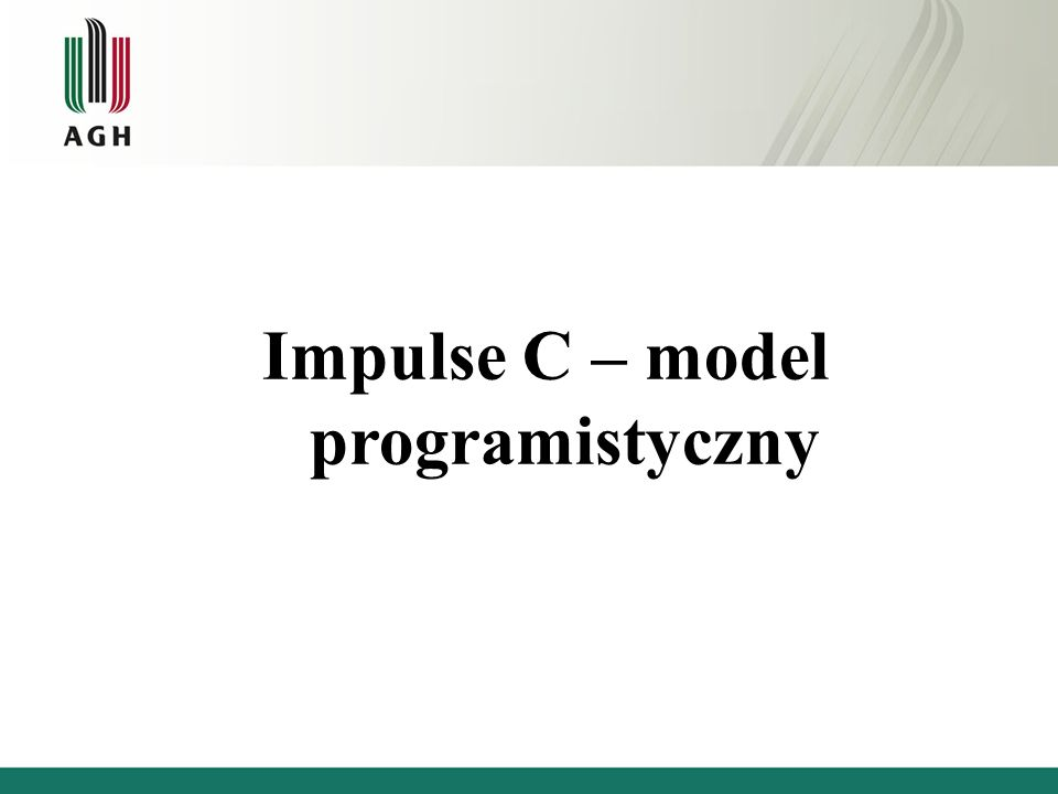 Impulse C – model programistyczny