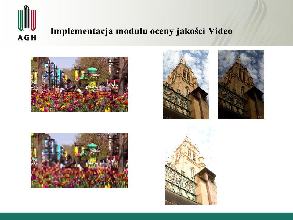 Implementacja modułu oceny jakości Video