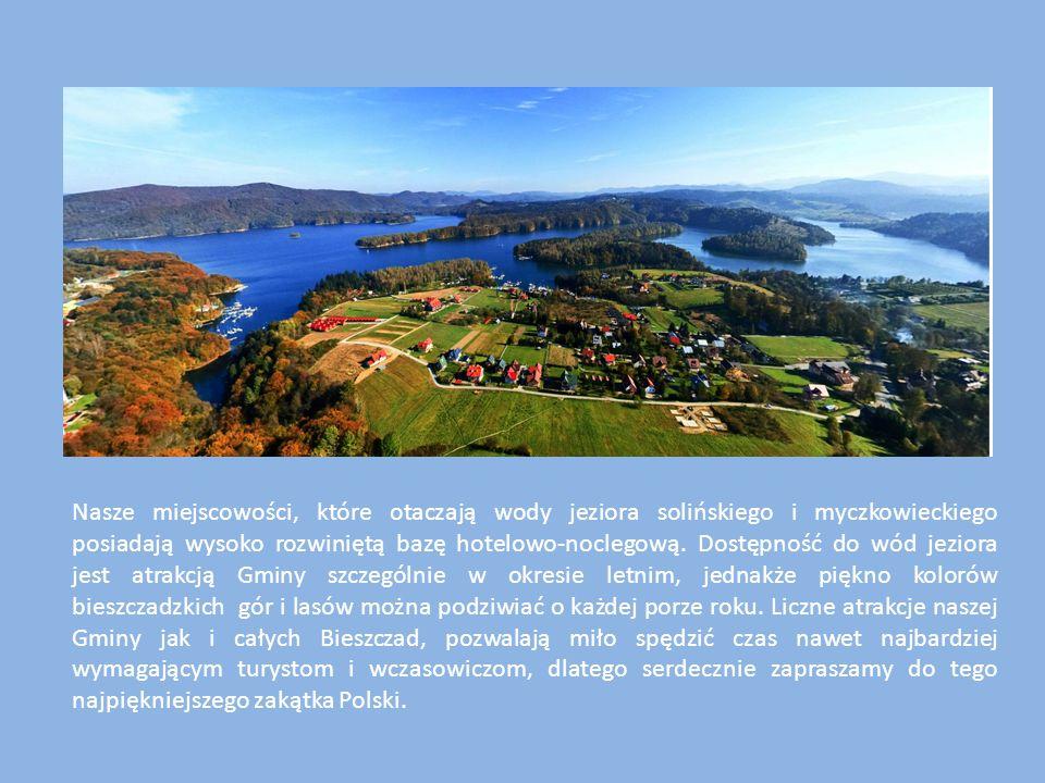 Nasze miejscowości, które otaczają wody jeziora solińskiego i myczkowieckiego posiadają wysoko rozwiniętą bazę hotelowo-noclegową. Dostępność do wód j