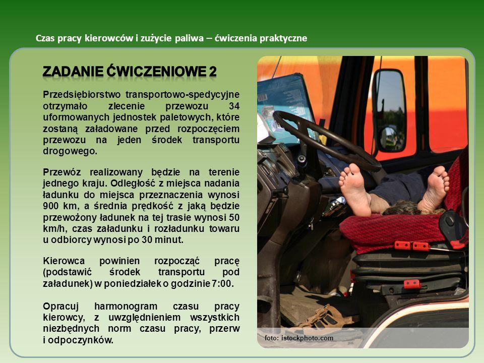 foto: istockphoto.com Czas pracy kierowców i zużycie paliwa – ćwiczenia praktyczne