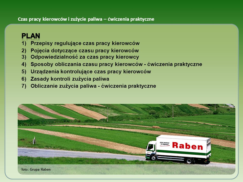 Czas pracy kierowców i zużycie paliwa – ćwiczenia praktyczne foto: Grupa Raben