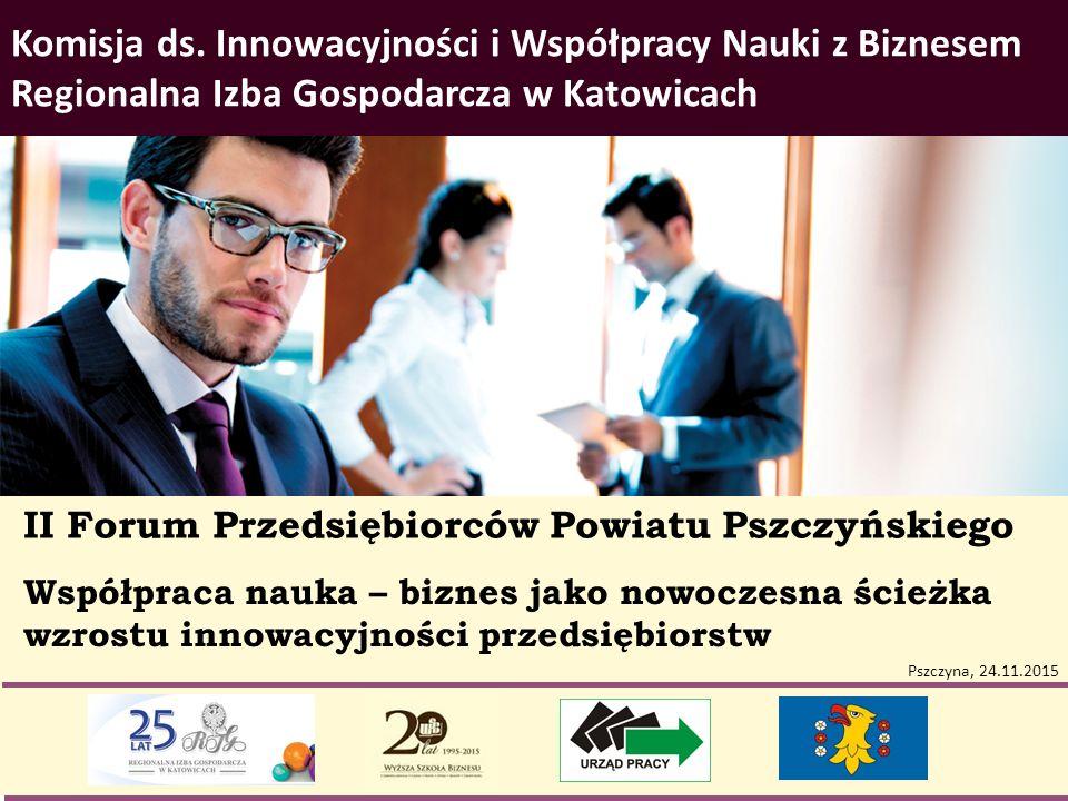 Współpraca nauka – biznes jako nowoczesna ścieżka wzrostu innowacyjności przedsiębiorstw Komisja ds. Innowacyjności i Współpracy Nauki z Biznesem Regi