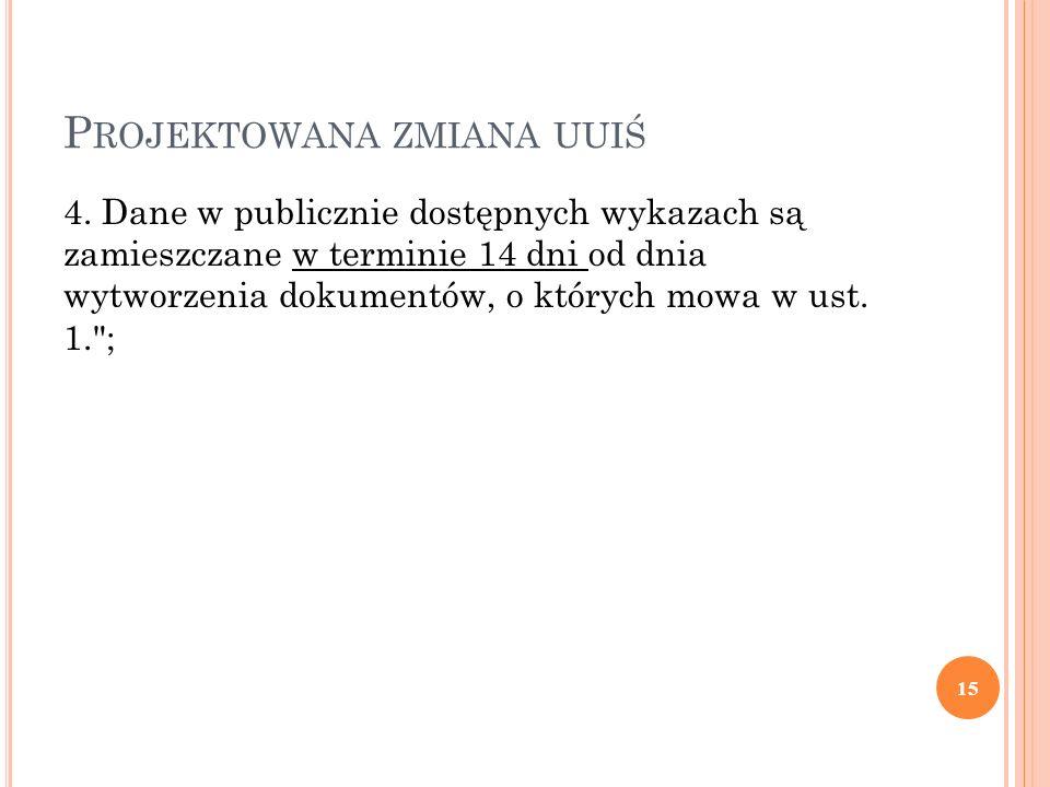 P ROJEKTOWANA ZMIANA UUIŚ 4.