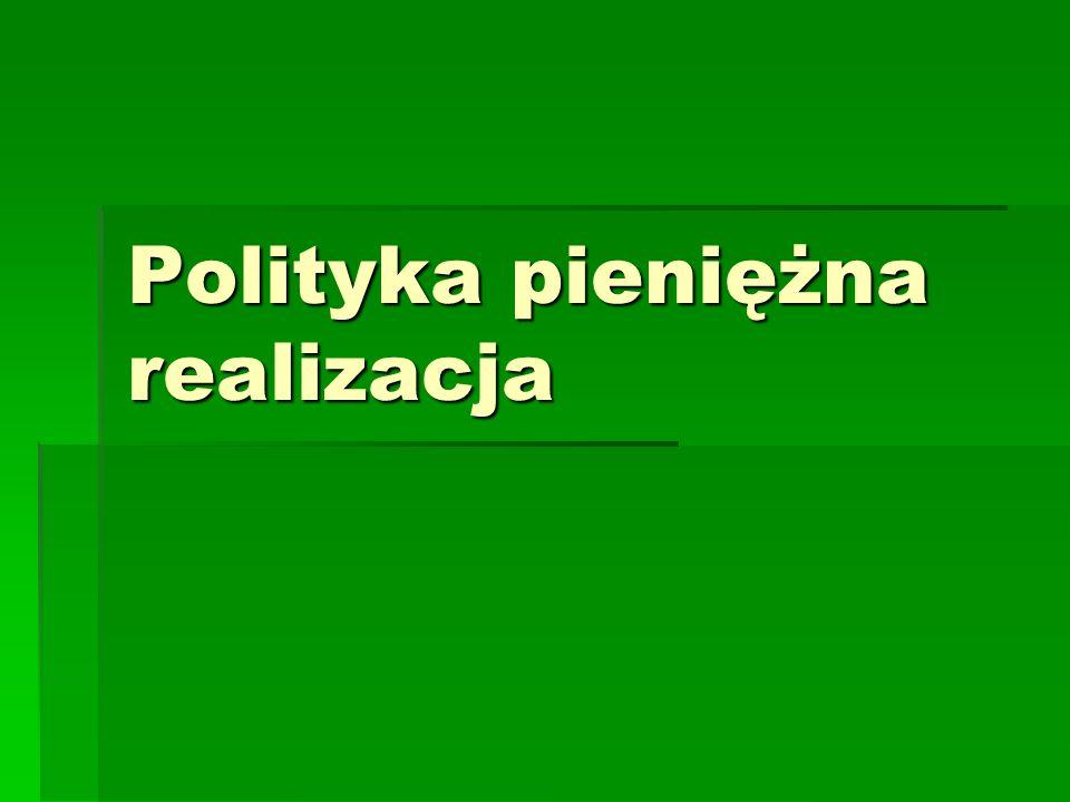 Polityka pieniężna realizacja