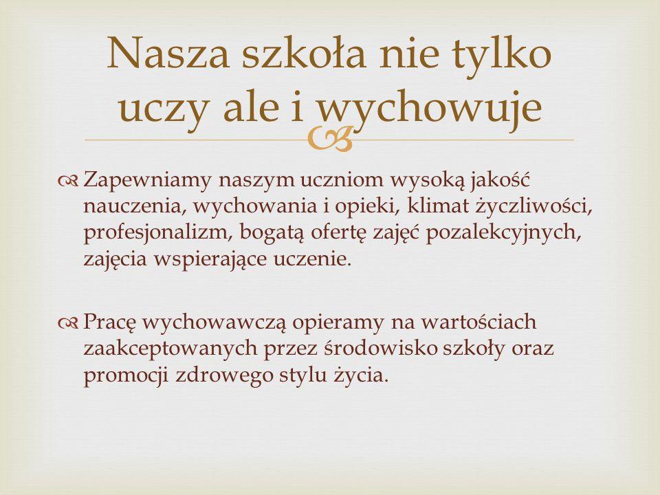  Dyrekcja szkoły dyrektor szkoły mgr Elżbieta Kubiak wicedyrektor szkoły mgr Ewa Osińska wicedyrektor szkoły mgr Jolanta Zielonka