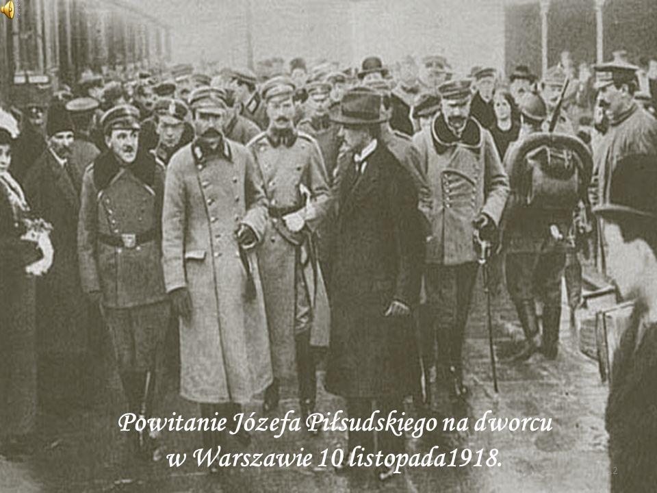 12 Powitanie Józefa Piłsudskiego na dworcu w Warszawie 10 listopada1918.