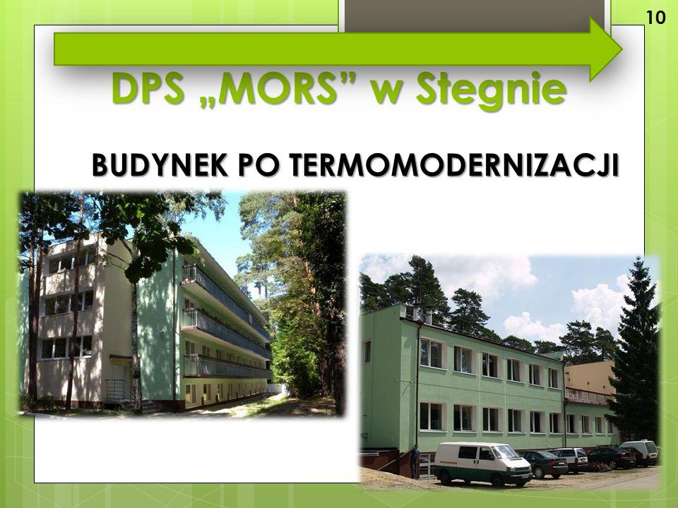 """DPS """"MORS w Stegnie BUDYNEK PO TERMOMODERNIZACJI 10"""