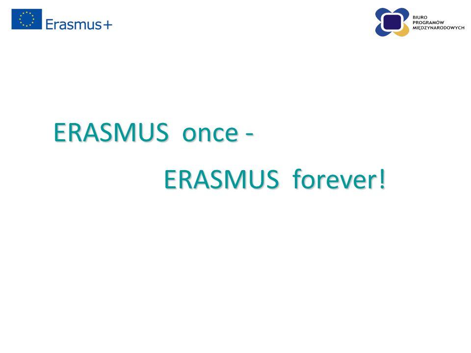 ERASMUS once - ERASMUS forever! ERASMUS forever!