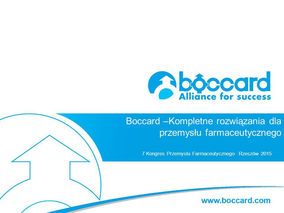 Titre principal c.40 Boccard –Kompletne rozwiązania dla przemysłu farmaceutycznego 7 Kongres Przemysłu Farmaceutycznego Rzeszów 2015