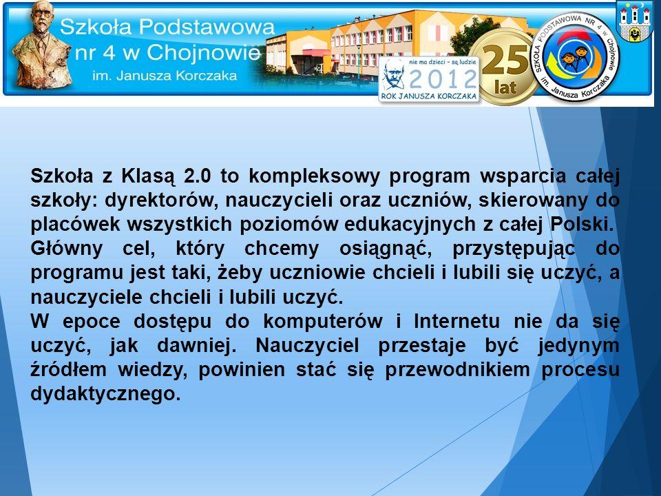 Szkoła z Klasą 2.0 to kompleksowy program wsparcia całej szkoły: dyrektorów, nauczycieli oraz uczniów, skierowany do placówek wszystkich poziomów edukacyjnych z całej Polski.