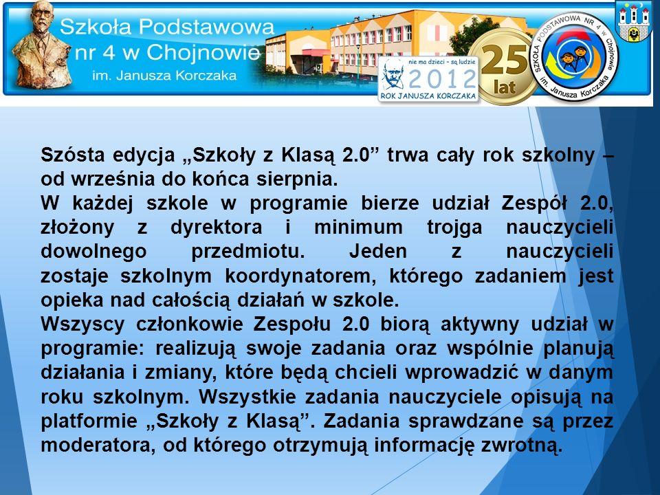 """Szósta edycja """"Szkoły z Klasą 2.0 trwa cały rok szkolny – od września do końca sierpnia."""