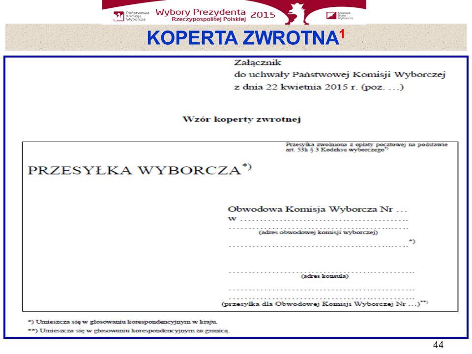 KOPERTA ZWROTNA 1 44