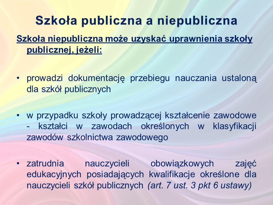 Szkoły publiczne umożliwiają uzyskanie świadectw lub dyplomów państwowych (art.